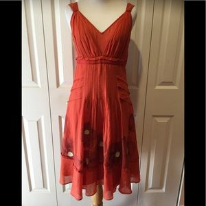 Anthropologie Floreat Poppy Dress